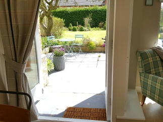 Bed and Breakfast in Eccleshall: View from the breakfast table